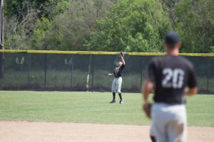 Reynolds makes the catch in center field