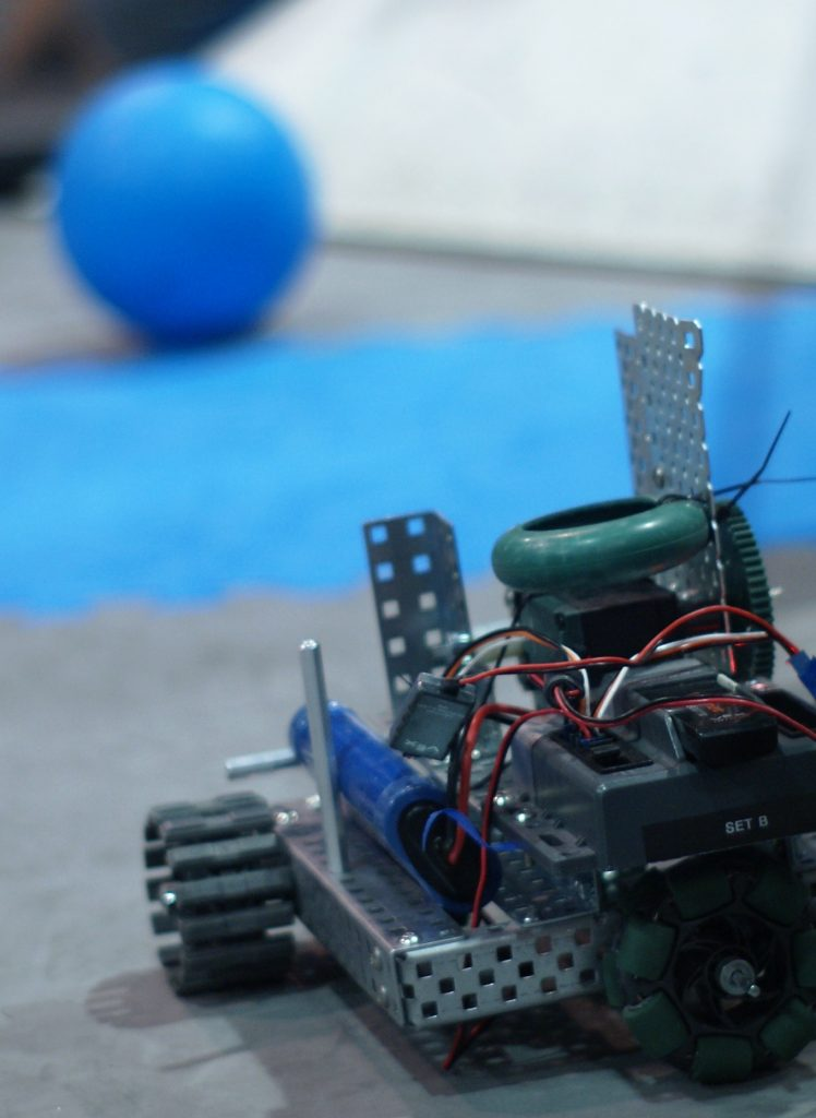 Local high school students work on their remote controlled machine between battles at last weeks electronics competition held in Chemeketa's gym