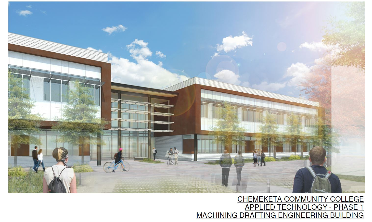 A conceptualization of the new Applied Technologies Building.
