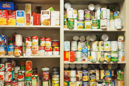 Some of the many available items offered through the Chemeketa Food Pantry. The Chemeketa Food Pantry also offers fresh garden items and personal care items to those in need. Photo by Saul Rodriguez