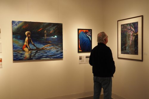 A sample of the works on display in the Gretchen Schuette Art Gallery. Photo by Saul Rodriguez